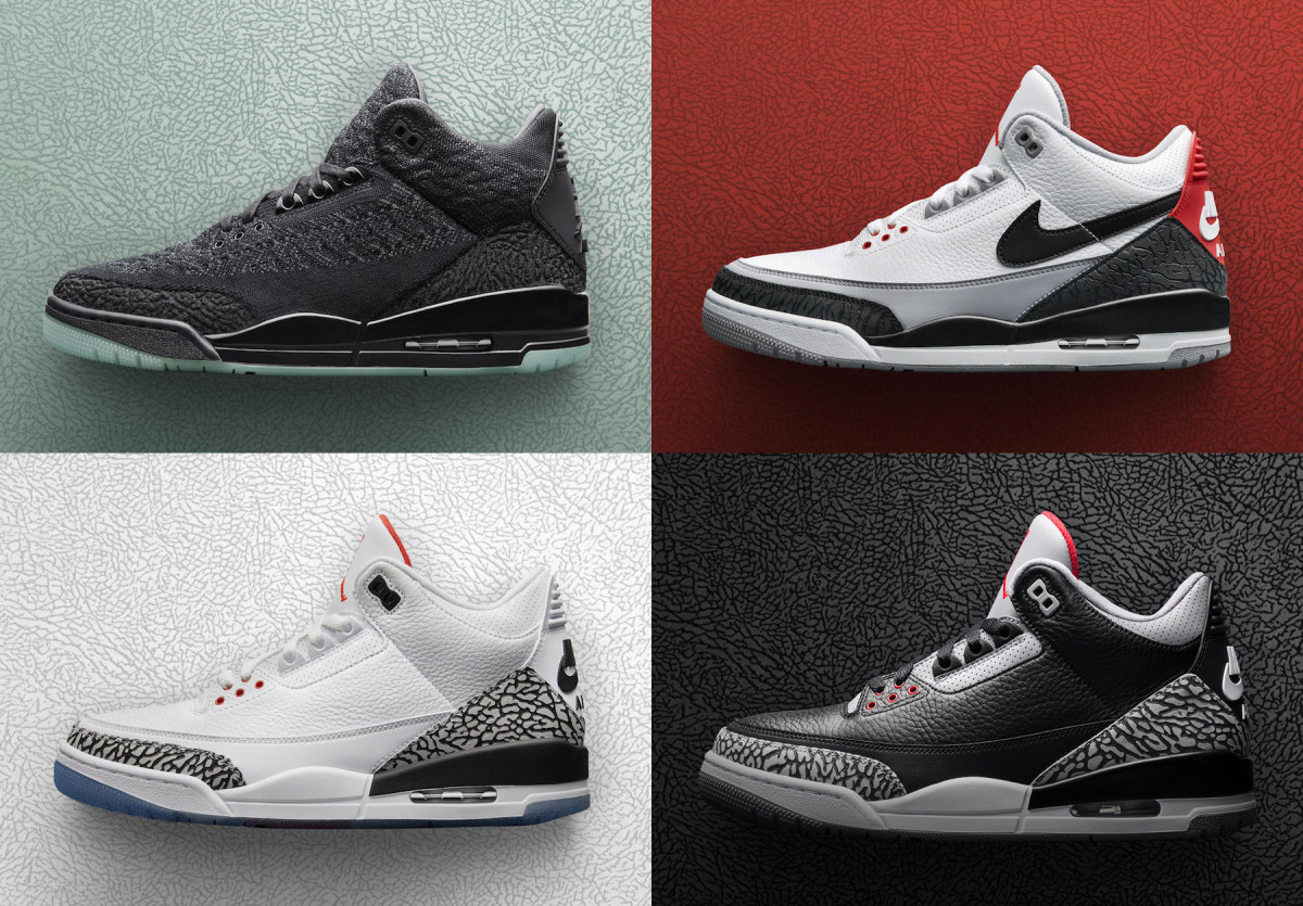 f42c5ea4327 Jordan Brand Previews a Quartet of Air Jordan 3 Releases From Its ...
