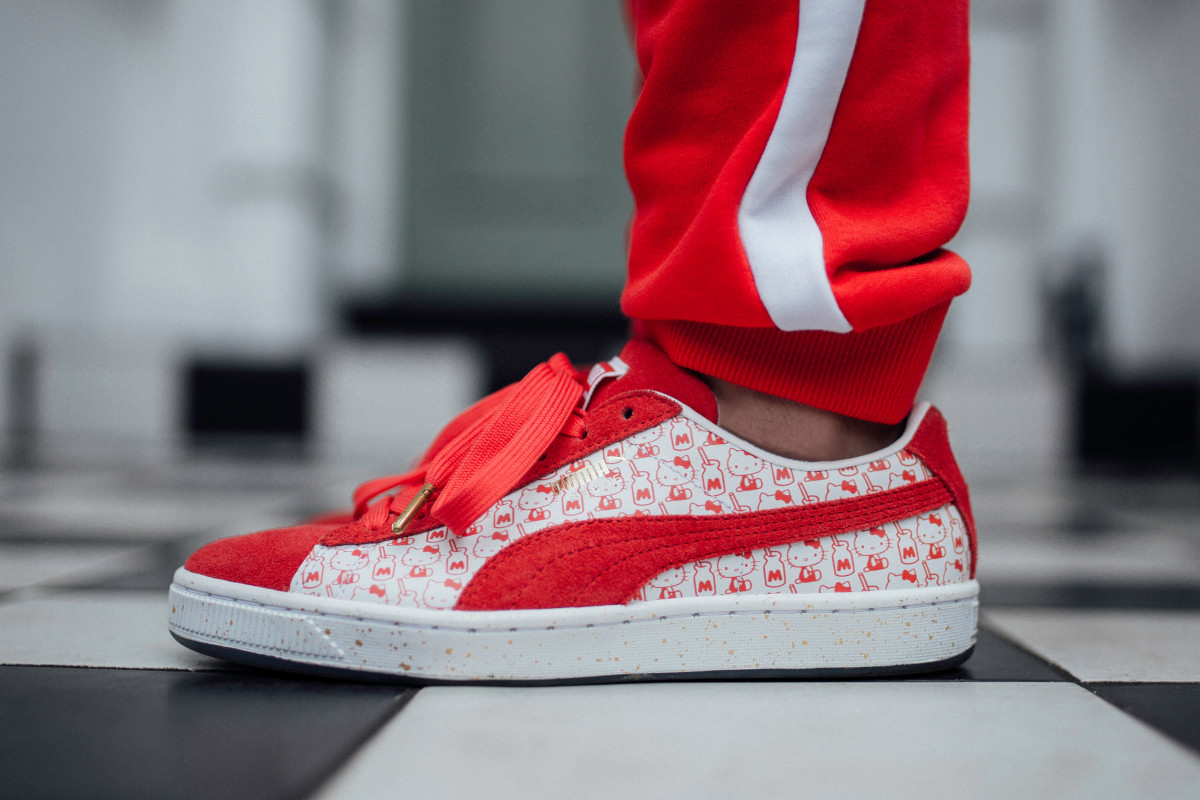 eeb339fee2c The PUMA Suede Celebrates Its 50th Anniversary With a Hello Kitty ...