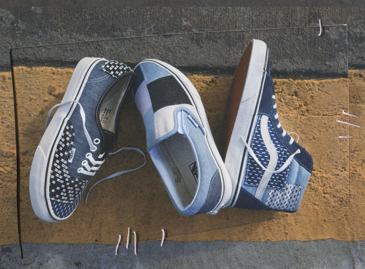 5399d8f08f Vans Updates Three Classic Silhouettes With Patchwork Denim ...